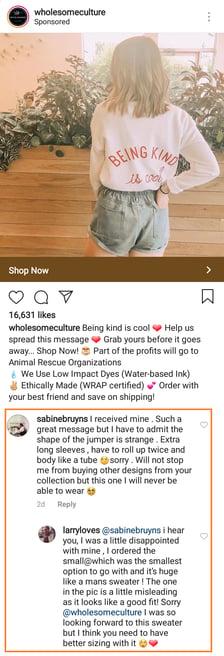 Instagram Ad Screenshot