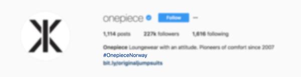 Instagram feature Bio hashtags