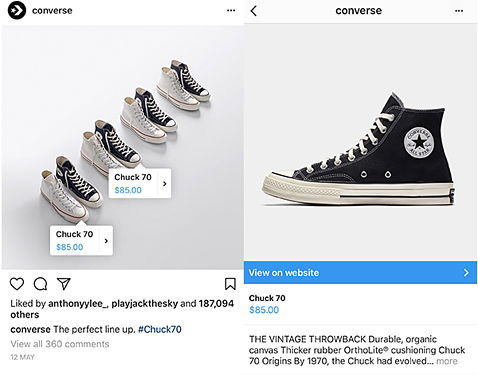 Instagram feature product tagging