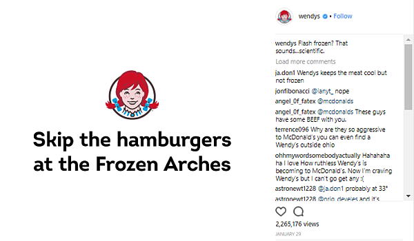 Wendy's roaster ad