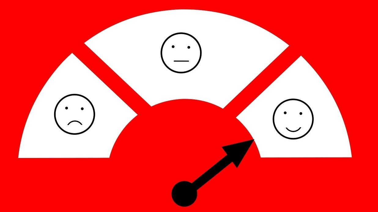 customer feedback sentiment analysis social listening happy sad smiley faces