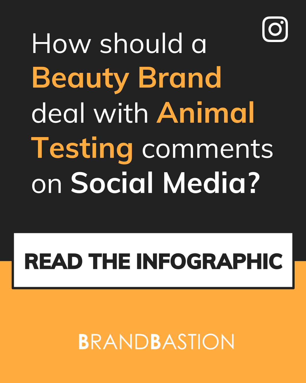 Infographic: How should Beauty Brands deal with Animal Testing comments on Social Media?