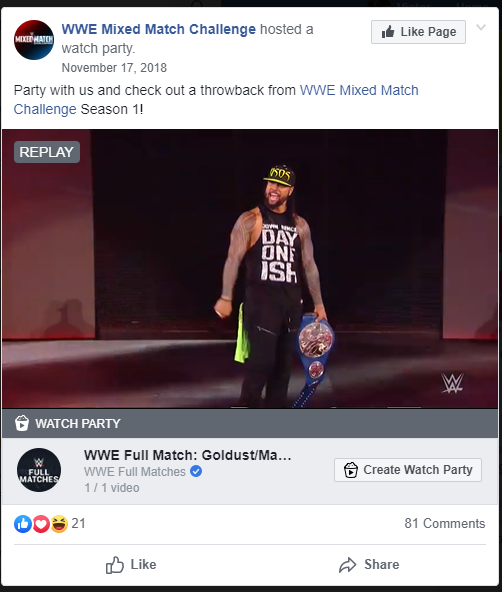 WWE Facebook Group Watch Party